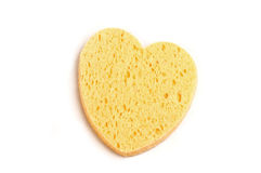 Yellow sponge. Over white background Royalty Free Stock Image