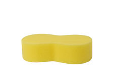 Yellow sponge for car washing  Stock Photography