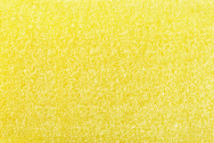 Yellow sponge texture of scouring pad Royalty Free Stock Photography