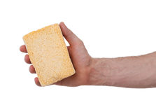 Yellow Sponge with white background Royalty Free Stock Photography