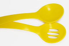 Yellow spoons Royalty Free Stock Photography