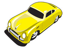 Yellow sport car Stock Images