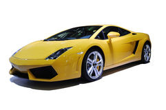Yellow sport car Royalty Free Stock Photography