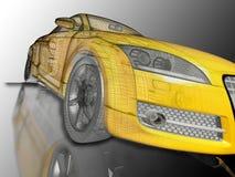 Yellow sport car stock illustration