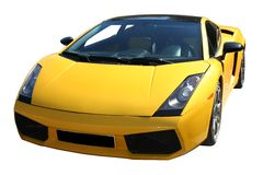 Yellow sport car Royalty Free Stock Images