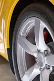 Yellow Sport Car. Details of a yellow sport car Stock Images