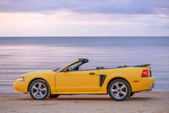 Yellow sport car cabriolet Stock Images