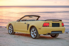 Yellow sport car cabriolet Royalty Free Stock Photography