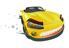 Yellow sport car drifting Royalty Free Stock Images