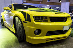 Yellow sport car Stock Image