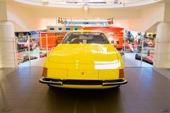 Yellow sport car Ferrari Stock Photos