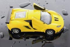 Yellow sport car Royalty Free Stock Photos