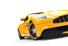 Yellow sport car isolated on a white background Royalty Free Stock Image