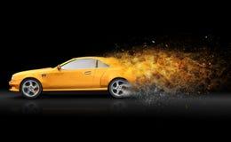Yellow sport coupe Stock Photo