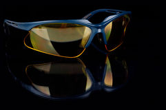 Yellow sporting glasses Royalty Free Stock Images
