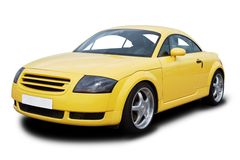Free Yellow Sports Car Royalty Free Stock Image - 14173356