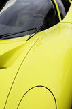 Yellow sports car Stock Photo