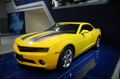 A yellow sports car Stock Photos