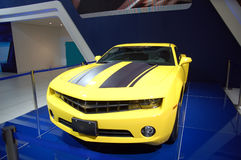 A yellow sports car Stock Photo