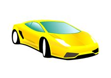 Yellow Sports Car. An illustration of a sleek yellow sports car Stock Photos