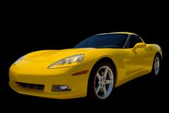 Yellow Sports Car stock images