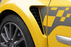 Yellow sports car Stock Photo