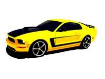 Yellow sports car Stock Photos