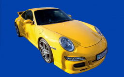 Yellow Sports Car. Royalty Free Stock Photo