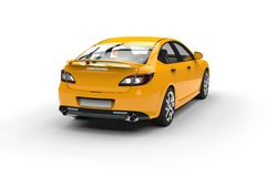 Yellow Sports Car - Back View Royalty Free Stock Images