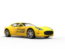 Yellow sports car - beauty studio shot. Isolated on white background Royalty Free Stock Photo
