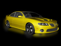 Yellow Sports Car with Clipping Path Stock Photography
