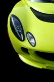 Yellow sports car front view Royalty Free Stock Photo