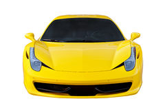 Yellow sports car isolated Stock Photography