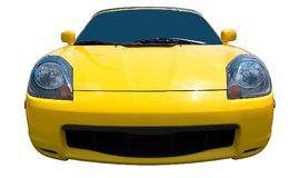 Yellow Sports Car on white background stock image