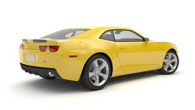 Sports car. Yellow sports car on white background Stock Image