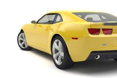 Sports car. Yellow sports car on white background Royalty Free Stock Photo