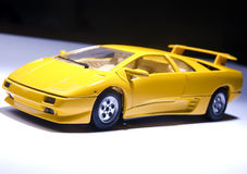 Yellow sports lamborghini Stock Photo