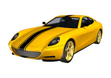 Yellow Sportscar Royalty Free Stock Photography