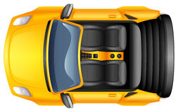 A yellow sportscar Stock Image