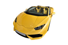 Yellow sportscar Stock Images