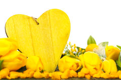 Yellow Spring Decoration Royalty Free Stock Photography