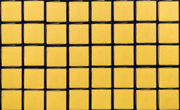 Yellow square boxes in grid pattern with copy space Stock Photography
