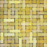Yellow square brick tile Stock Photography