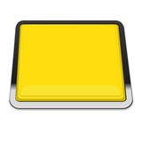 Yellow square button Royalty Free Stock Photography