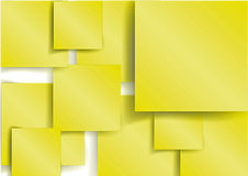 Yellow Square element with shadow Royalty Free Stock Photo
