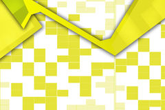 Yellow square shape overlaping, abstract background Royalty Free Stock Image