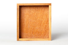 Yellow square Wooden box Stock Image
