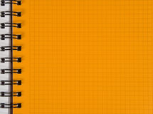 Yellow squared notebook sheet. (as a background Stock Image