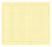 Yellow squared paper Stock Photos