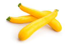 Yellow squash. On white background Royalty Free Stock Images